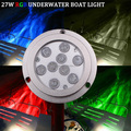 27W Bluetooth 12V RGB LED Marine Light IP68 Boat Lights for Fishing Boat