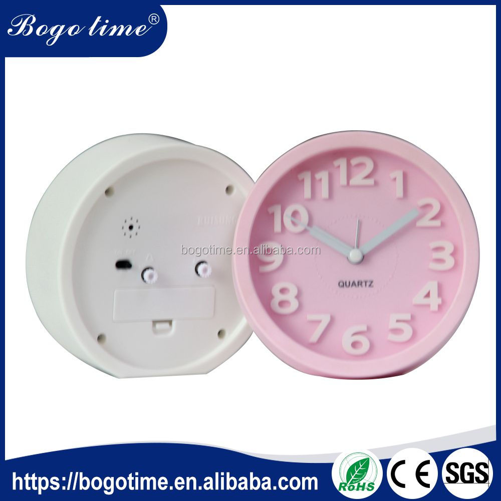 Latest new design quality Assurance mini 3d plastic ROHS 3d digital wall clock