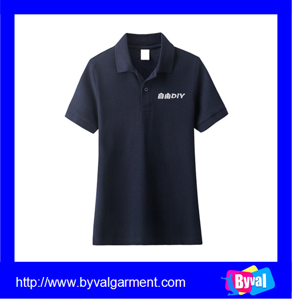 Factory price custom cotton polyester polo shirt plain for Custom polo shirt manufacturers