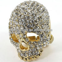 Crystal Skull Fashion Stretch Ring