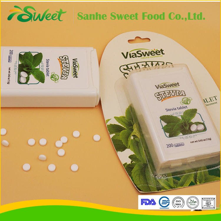 Organic Sweetener Stevia Tablet/Stevia Dispenser/ Stevia tablet in Dispenser with Blister Pack