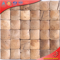 YK21 Beige Spherical 3D Reclaimed Coconut Shell Mosaic Tiles for Remodeling Project