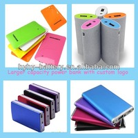 Super thin universal aluminum alloy case external battery pack for mobile and USB