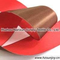Polyester Two Color Double Sided Satin Ribbon