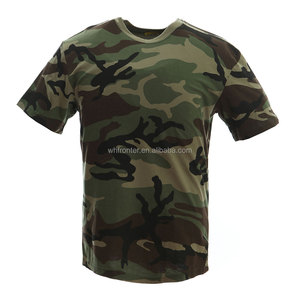 Wholesale 100% Cotton Camouflage Woodland Camo T shirt