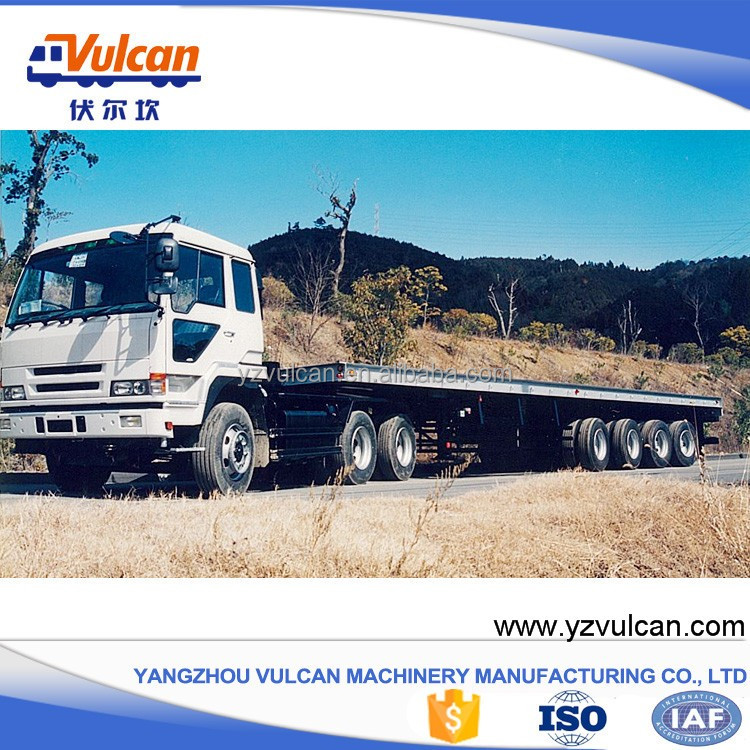 Good quality 4 axles flatbed dolly semi-trailer with ISO9001 for sale