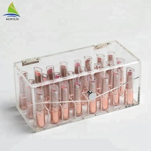 Transparant acryl make lippenstift display case make up Organizer