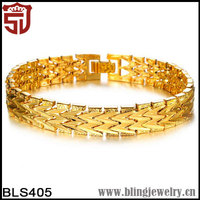 GOLD REAL FILLED BRACELET SOLID WATCH CHAIN LINK Shangjie Jewelry