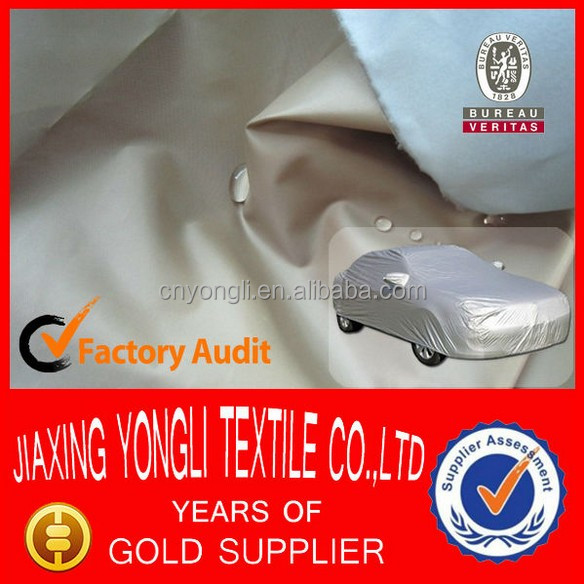 Silver fabric for car cover