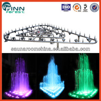 Triangle shape musical water fountain controller landscape garden fountains round