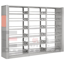 Modern Library Furniture Metal Bookshelves Steel Library Steps