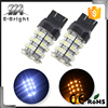 Low Cost 3157 60SMD 1210 3528 LED Dual Color Car Brake Turn Signal LED Bulbs White/Amber