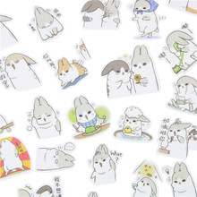40 Pcs/Pack New Kawaii Chubby Rabbit Series Pet Sticker Pack Hot Sell Deco Packing Stickers