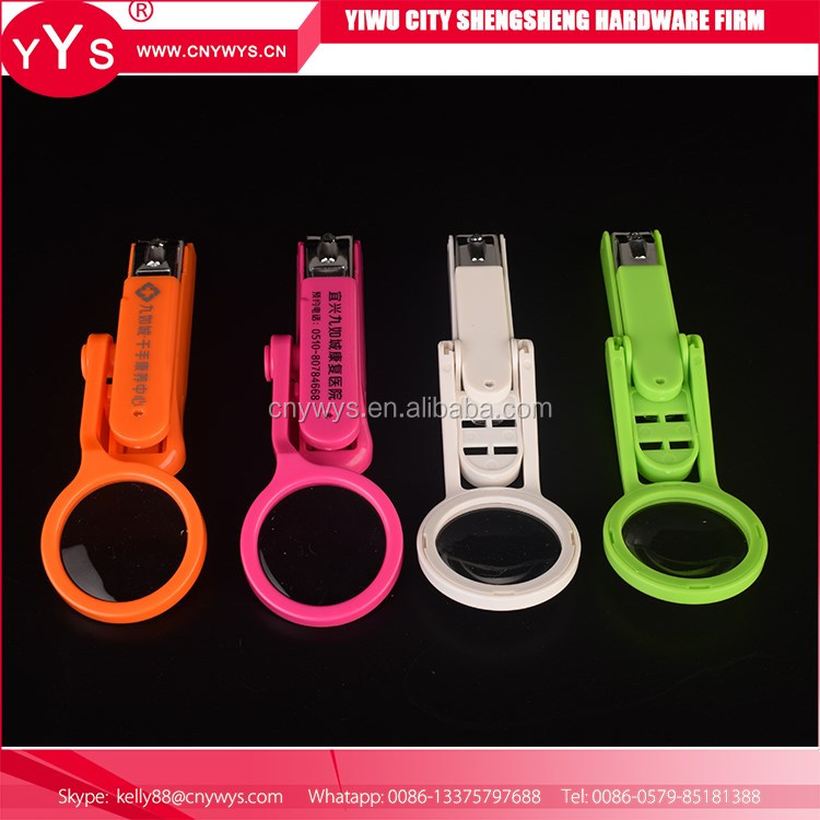 Nail cutter with magnifier funny nail clipper set