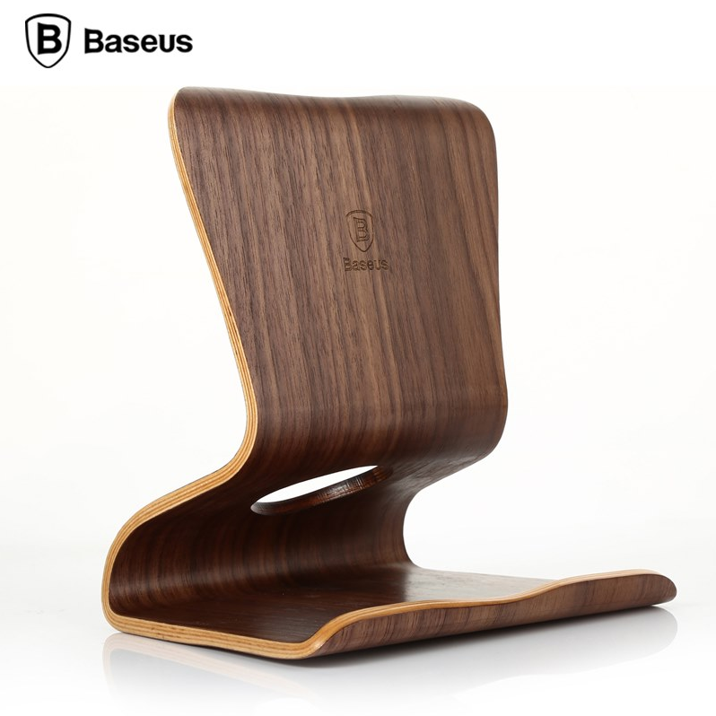 Baseus Pure Walnut Wood For iPad Air Mini 2 3 4 Universal Tablet PC Stand Holder Purewood Desktop Bracket