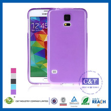C&T Pure color clear case for samsung galaxy s5 mobile phone case