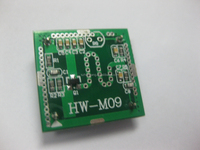 10.525GHZ HW-M09-02 Microwave doppler radar sensor module for ceiling light with 3.3V Output