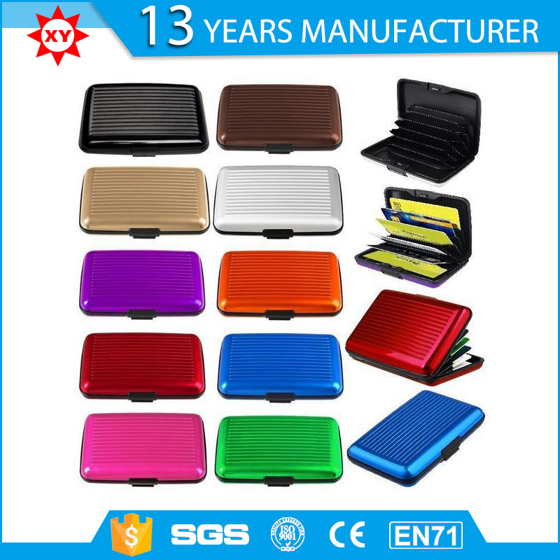 2016 fashionable aluminum and plastic card holder
