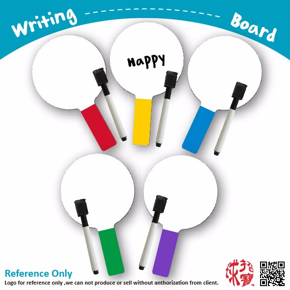Novelty custom writing Dry Erase Educational Paddle colorful board pads