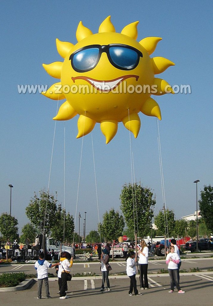 Good price inflatable sun smile flying balloon for display N1012