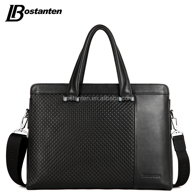 China factory manufacture mens briefcase genuine leather briefcase bag