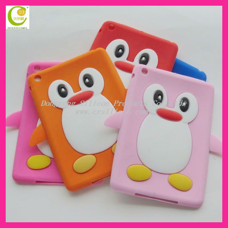 DongGuan cheap high quality silicone handheld case for ipad,custom smart silicone case for ipad mini