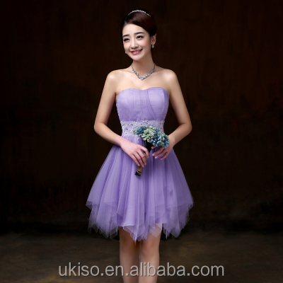 Purple Pink Champagne Violet White Sky Blue Off-shoulder Bridesmaid Dress Knee Length Prom Gowns Party Princess Ball Dress