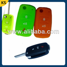 Customized silicone key cover vw colorful