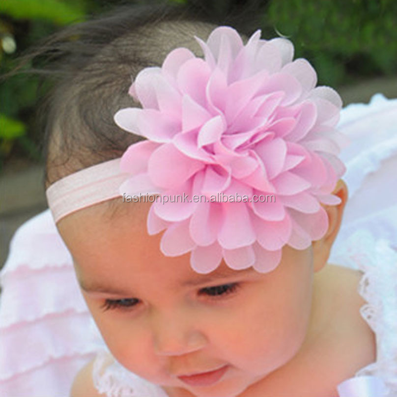 Newborn Kids Baby Infant Sign Flower Lovely Headband Hairband Elastic Head Accessories