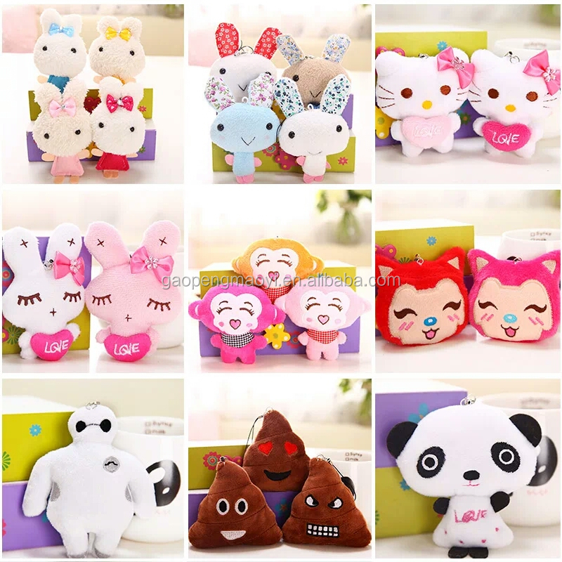 Manufacturer Mini Animal Custom Stuffed Plush Toy Keychain best birthday present