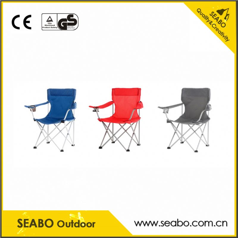 OEM package box design fashion aluminum folding camping chair with factory price