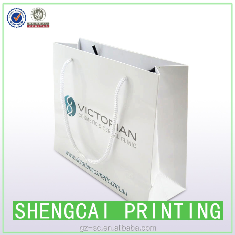 Promotional cheap small paper gift bags with handles