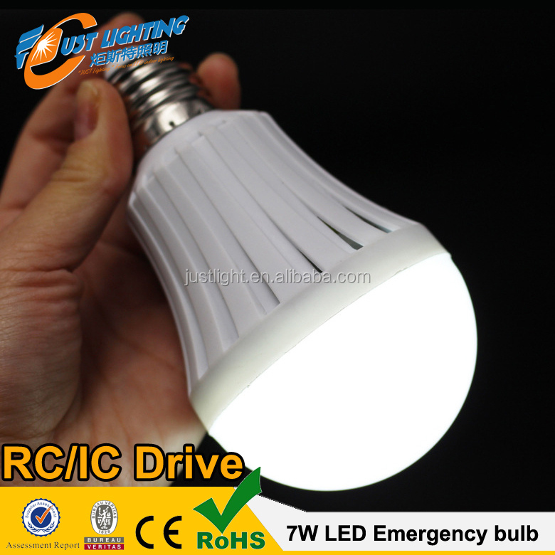 Cool White 12W Smart Bulb Rechargeable Emergency LED Energy Saving Lamp with <strong>Battery</strong>