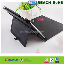 New products solar charger leather case for ipad, universal solar charge case for tablet