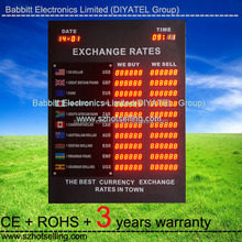 currency exchange calculator /Outdoor Waterproof currency exchange rate board display