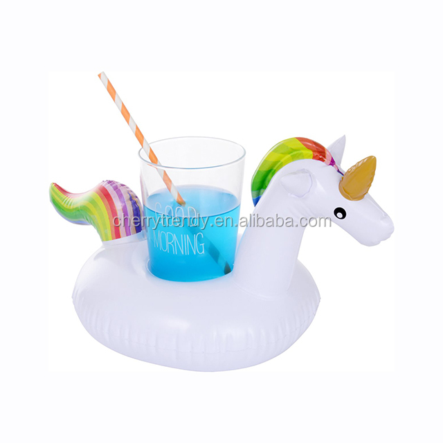 Flamingo Drink Holder Unicorn Palmtree Inflatable Drink Holder