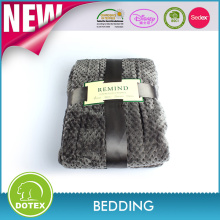 BSCI SEDEX Audited blanket manufacturer 100% polyester waffle flannel king size korean mink blanket