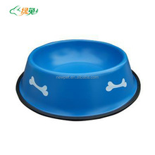 Special customized new import sand blast non-toxic pet bowl non-slip dog bowl