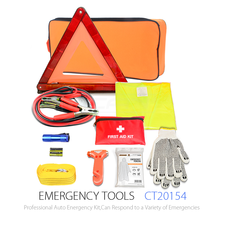 Top Hot auto car first aid kit for vehicles/Road assistant kit, emergency survival kit/car emergency