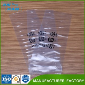 Customized Printed Plastic Transparent Package Three Side Seal Bag for Packing