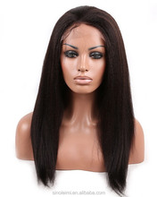 7a Full Lace Human Hair Wigs, Virgin Peruvian Hair kinky Straight Lace Front Wigs, Human Hair Lace Wigs For Black Women