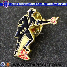 China wholesale Custom metal gold soccer men's lapel pins with no minimum