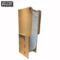 display stand floorstanding cardboard voting booth platform /station