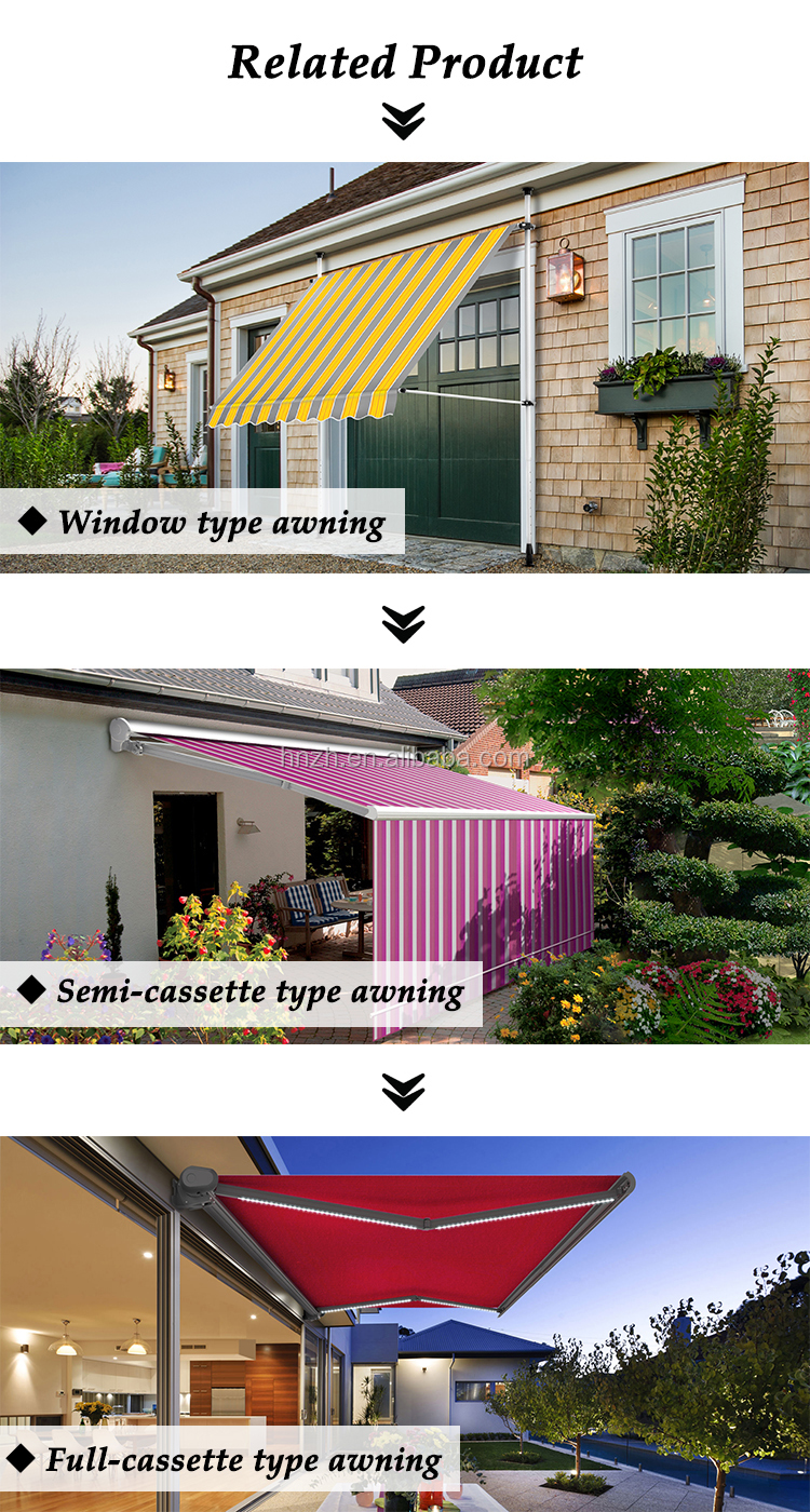 Hot selling products retractable awning covers fabric for balcony With ISO9001