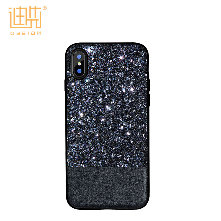 NEW mobile phone case for iphone 8 2017 Fashionalbe shiny sequin back cover design TPU+PC phone cover for iphone 10