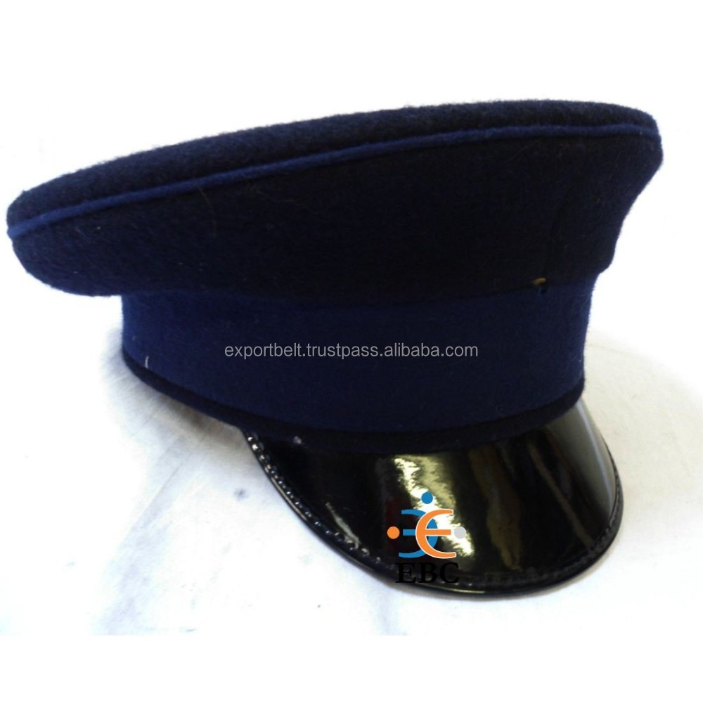 OEM Firefighter Bell Cap Uniform Hat, Military officer peak caps, Black, Navy, blue, red, green, grey and white hats
