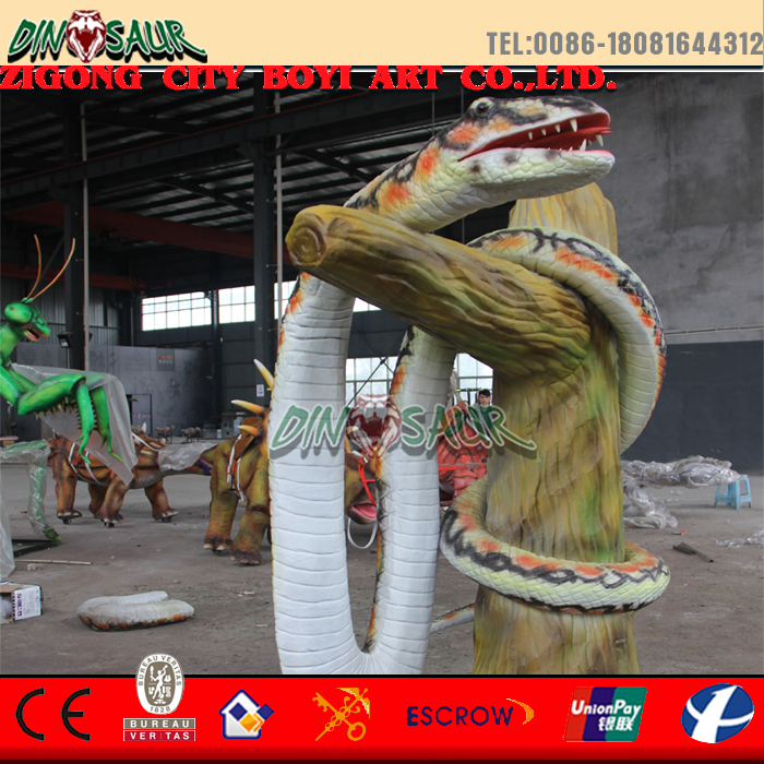 huge animal animatronic snake