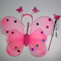 2015 high quality party supplies pinion kids party dress butterfly angle wing