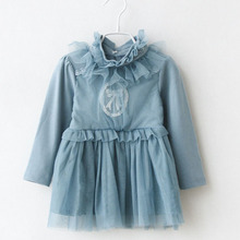 Tutleneck actumn kids fashion dresses pictures