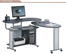 L Shape Study Cum Computer Table Design With Wheel